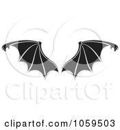 Royalty Free Vector Clip Art Illustration Of A Pair Of Bat Wings by Any Vector