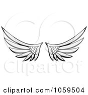 Royalty Free Vector Clip Art Illustration Of A Pair Of Angel Wings by Any Vector #COLLC1059504-0165