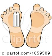 Royalty Free Vector Clip Art Illustration Of A Toe Tag On A Foot