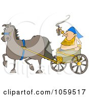 Horse Pulling A Guy In A Chariot