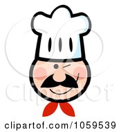 Royalty Free Vector Clip Art Illustration Of A Winking Chef Face