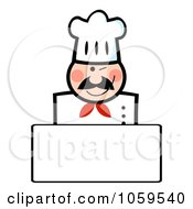 Royalty Free Vector Clip Art Illustration Of A Winking Caucasian Chef Banner With Copyspace