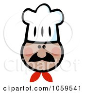 Royalty Free Vector Clip Art Illustration Of An African American Chef Face