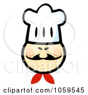 Royalty Free Vector Clip Art Illustration Of An Asian Chef Face