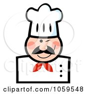 Royalty Free Vector Clip Art Illustration Of A Winking Caucasian Chef