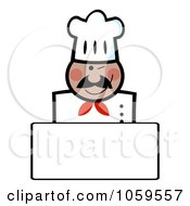 Royalty Free Vector Clip Art Illustration Of A Winking Black Chef Banner With Copyspace by Hit Toon