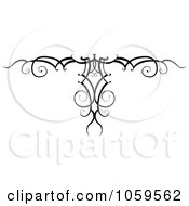 Royalty Free Vector Clip Art Illustration Of A Black And White Swirl Arm Band Tattoo Design