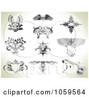 Digital Collage Of Tattoo Designs