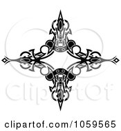 Royalty Free Vector Clip Art Illustration Of A Black And White Tribal Arm Band Tattoo Design