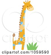 Royalty Free Vector Clip Art Illustration Of A Cute Giraffe by peachidesigns #COLLC1059590-0137