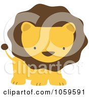 Royalty Free Vector Clip Art Illustration Of A Cute Lion by peachidesigns #COLLC1059591-0137