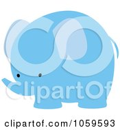 Royalty Free Vector Clip Art Illustration Of A Cute Blue Elephant