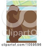 Royalty Free Vector Clip Art Illustration Of A Profiled Pregnant Woman Over Brown Green And Blue