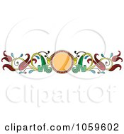 Royalty Free Vector Clip Art Illustration Of An Art Deco Floral Border by pauloribau