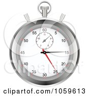 Royalty Free Vector Clip Art Illustration Of A Silver Stop Watch by elaineitalia