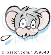 Royalty Free Vector Clip Art Illustration Of A Scared Micah Mouse by Johnny Sajem