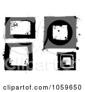 Royalty Free Vector Clip Art Illustration Of A Digital Collage Of Black And White Grunge Frames 1 by michaeltravers