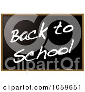 Royalty Free Vector Clip Art Illustration Of A Black Chalkboard With Back To School Text