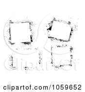 Royalty Free Vector Clip Art Illustration Of A Digital Collage Of Black And White Grunge Frames 3 by michaeltravers