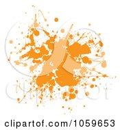 Royalty Free Vector Clip Art Illustration Of An Orange Ink Ink Grunge Splat