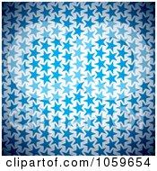 Royalty Free Vector Clip Art Illustration Of A Background Of Blue Stars On White by michaeltravers