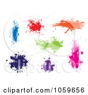 Royalty Free Vector Clip Art Illustration Of A Digital Collage Of Colorful Ink Splats