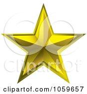 Royalty Free Vector Clip Art Illustration Of A 3d Golden Star