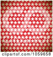 Royalty Free Vector Clip Art Illustration Of A Background Of Beige Stars On Red