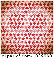 Royalty Free Vector Clip Art Illustration Of A Background Of Red Stars On Beige