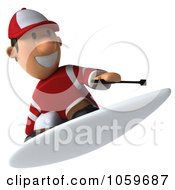 Royalty Free CGI Clip Art Illustration Of A 3d Jockey Man Surfing 3 by Julos