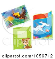 Royalty Free Clip Art Illustration Of A Digital Collage Of Animal Educational Books by Alex Bannykh