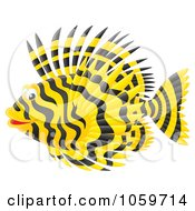 Royalty Free Clip Art Illustration Of A Lion Fish by Alex Bannykh