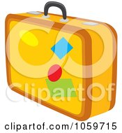 Royalty Free Clip Art Illustration Of A Yellow Suitcase