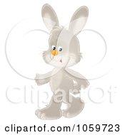 Royalty Free Clip Art Illustration Of A Rabbit Walking Upright