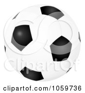 Royalty Free Clip Art Illustration Of An Airbrushed Soccer Ball by Alex Bannykh