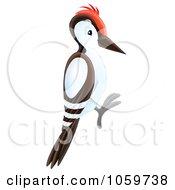 Royalty Free Clip Art Illustration Of A Woodpecker by Alex Bannykh