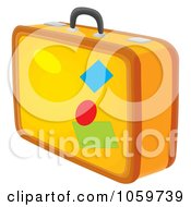 Royalty Free Clip Art Illustration Of Yellow Luggage