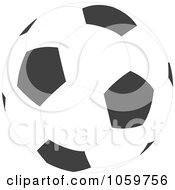 Royalty Free Vector Clip Art Illustration Of A Soccer Ball by Alex Bannykh