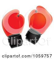 Royalty Free Clip Art Illustration Of An Airbrushed Pair Of Boxing Gloves