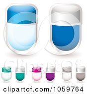 Royalty Free Vector Clip Art Illustration Of A Digital Collage Of Blank Glass Tags by michaeltravers