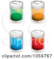 Royalty Free Vector Clip Art Illustration Of A Digital Collage Of Colorful Blank Shield Tags by michaeltravers