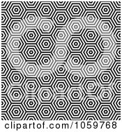 Royalty Free Vector Clip Art Illustration Of A Seamless Black And White Hexagon Pattern Background
