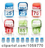 Royalty Free Vector Clip Art Illustration Of A Digital Collage Of Discount Sales Tags by michaeltravers