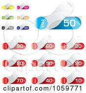 Royalty Free Vector Clip Art Illustration Of A Digital Collage Of Discount Peel Sales Tags by michaeltravers