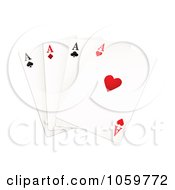 Royalty Free Vector Clip Art Illustration Of Four Aces