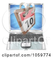 Royalty Free Vector Clip Art Illustration Of A 3d Calendar Over A Laptop