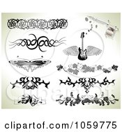 Royalty Free Vector Clip Art Illustration Of A Digital Collage Of Tribal And Ornate Tattoo Designs