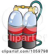 Royalty Free Vector Clip Art Illustration Of Scuba Diving Oxygen by visekart