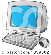 Royalty Free Vector Clip Art Illustration Of A Desktop Computer by visekart