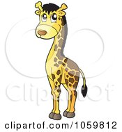 Royalty Free Vector Clip Art Illustration Of A Cute Giraffe by visekart
